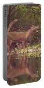 Kissing Deer Reflection Portable Battery Charger