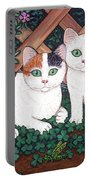 Kittens And Clover Portable Battery Charger