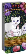Kittens In A Basket Portable Battery Charger