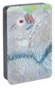 Koala With Baby - Pastel Wildlife Painting Portable Battery Charger