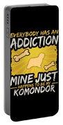 Komondor Funny Dog Addiction Portable Battery Charger