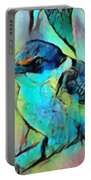 Kookaburra Blues Portable Battery Charger by Chris Armytage