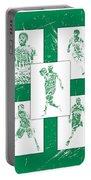 Kyrie Irving Boston Celtics Panel Pixel Art 1 Portable Battery Charger