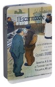 L Escarmouche, 1893 French Vintage Poster Portable Battery Charger