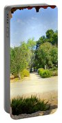 La Purisima Mission Garden From The Arcade Portable Battery Charger