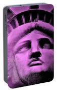 Lady Liberty In Pink Portable Battery Charger