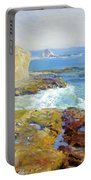 Laguna Rocks Low Tide 1916 Portable Battery Charger