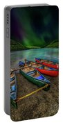 lake Geirionydd Canoes Portable Battery Charger by Adrian Evans