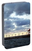 Lake Michigan Lighthouse Portable Battery Charger