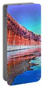 Lake Powell With Cliff Reflections Portable Battery Charger