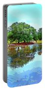 Lake Reflections On A Sunny Day Portable Battery Charger