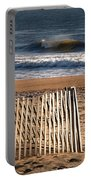 Landscape Jersey Shore Ocean Fence  Portable Battery Charger