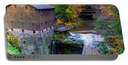 Lanterman's Mill In Fall Portable Battery Charger