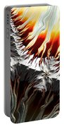 Lava Fire And Ice Fractal Abstract Portable Battery Charger by Rose Santuci-Sofranko