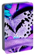Lavender Butterfly Portable Battery Charger