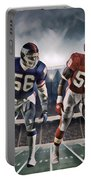 Lawrence Taylor New York Giants And Derrick Thomas Kansas City Chiefs Abstract Art 1 Portable Battery Charger
