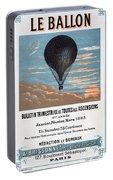 Le Ballon Aeronautical Journal, 1883 French Poster Portable Battery Charger
