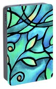 Leaves And Curves Art Nouveau Style II Portable Battery Charger