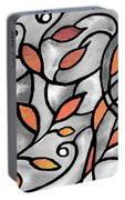 Leaves And Curves Art Nouveau Style Xii Portable Battery Charger