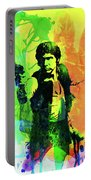 Legendary Han Solo Watercolor Portable Battery Charger