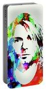 Legendary Kurt Cobain Watercolor Portable Battery Charger