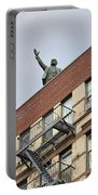 Lenin Statue In East Village N Y C Portable Battery Charger