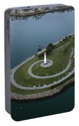 Lighthouse On The Coast, Long Beach Portable Battery Charger