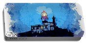 Lighthouse, Watercolor, C2019, By Adam Asar - 19 Portable Battery Charger