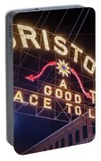 Lighting Up The Bristol Sign Portable Battery Charger