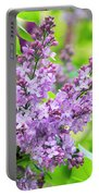 Lilac Flowers Portable Battery Charger