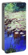 Lilies On Blue Water Portable Battery Charger