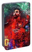 Lionel Messi In Barcelona Kit Portable Battery Charger