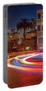 Lombard Street And The Bay Bridge Portable Battery Charger