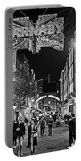 London Nightlife Carnaby Street London Uk United Kingdom Black And White Portable Battery Charger