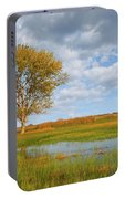 Lone Tree By A Wetland Portable Battery Charger