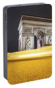Long Exposure Picture Of Paris Arch De Triomphe At Night   Portable Battery Charger