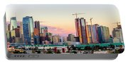 Los Angeles Skyline Sunset - Panorama Portable Battery Charger
