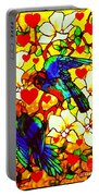 Love Birds In The Love Tree With Hibiscus Portable Battery Charger