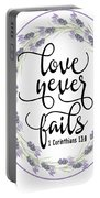 Love Never Fails' Portable Battery Charger by Judy Hall-Folde