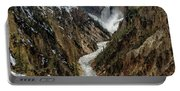 Lower Falls In Yellowstone Portable Battery Charger