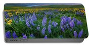 Lupines At Sunrise Portable Battery Charger