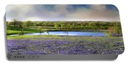 Mach Road Blubonnet Panorama In Evening Light Portable Battery Charger