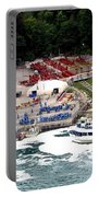 Maid Of The Mist Tour Boat At Niagara Falls Portable Battery Charger by Rose Santuci-Sofranko
