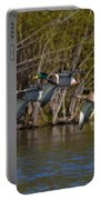 Mallards Flying By Portable Battery Charger