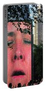 Man Face Crown Fountain Chicago Portable Battery Charger