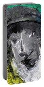 Man In A Scarf Portable Battery Charger