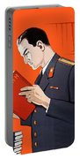 Man Is Reading Lenin Books Portable Battery Charger
