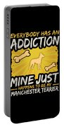 Manchester Terrier Funny Dog Addiction Portable Battery Charger