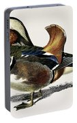 Mandarin Duck  Aix Galericulata Illustrated By Charles Dessalines D' Orbigny  1806-1876 1 Portable Battery Charger