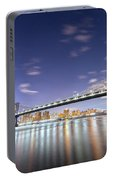 Manhattan Bridge By Night Portable Battery Charger